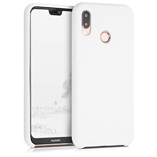 kwmobile Huawei P20 Lite Cover - Custodia per Huawei P20 Lite in Silicone TPU - Back Case Cellulare Bianco