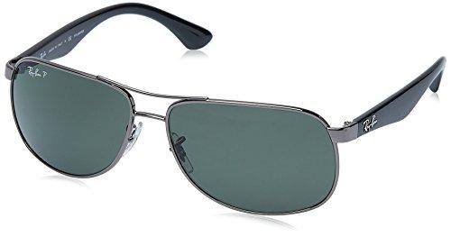 Ray Ban Unisex Sonnenbrille RB3502 Mehrfarbig (Gestell: Gunmetal/Schwarz, Gläser: Polarized Grün Klassisch 004/58)), X-Large (Herstellergröße: 61)