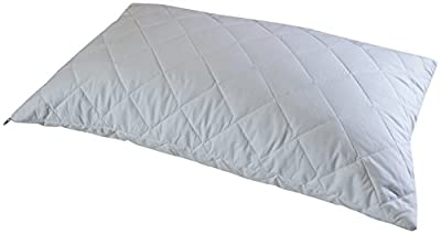 Cuddledown Quilted Pure Cotton Pillow Protector, Standard Size, Pack of 2