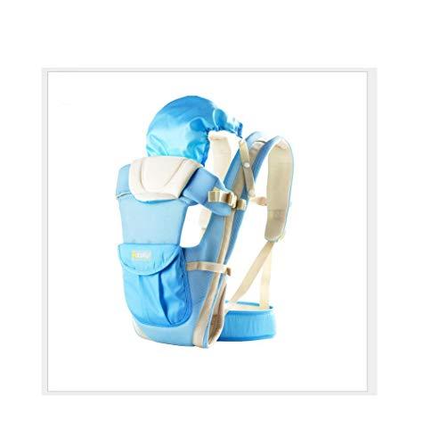 Tragen eines Zubehörbaby-Babybügels aus Babytragetuch in Blau - Gepolstert Salbei
