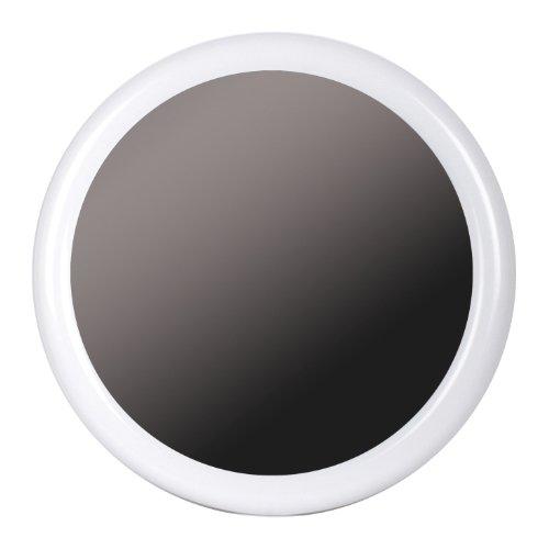 TATAY 4431101 - Espejo de baño para pared, Forma redonda, ABS, Blanco, 56.00x2.50x56.00 cm