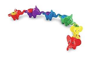 Learning Resources- Juego de Elefantes para Contar y Practicar números y Colores Snap