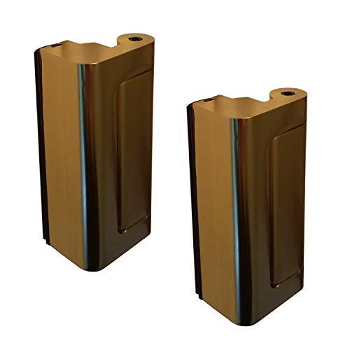 2 x Puerta Viper Cerradura de latón - 12 x más fuerte que un perno muerto convencional