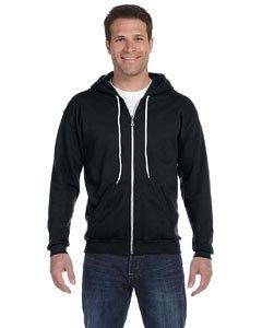 Adult Hooded Fleece (Anvil Adult Full-Zip Hooded Fleece (Black) (L))