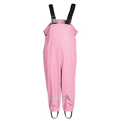 smileBaby wasserdichte Kinder Regenhose Regenlatzhose mit verstellbaren Trägern und Schuhschlaufen Unisex in Rosa 122