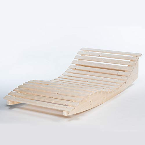 TUGA - Holztech Naturholz Massive wetterfeste extrem Stabile Schaukelliege Relaxliege...