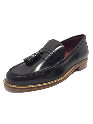 London Brogues Lucas, Herren Slipper Schwarz