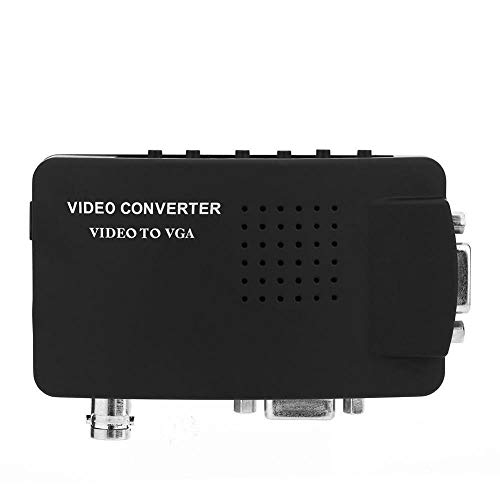 Zerone 1080p Video Converter, BNC/S-Video/VGA zu VGA Converter Box für DVD/PDP / PS2 in Schwarz Bnc-vga-s-video