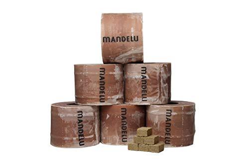 Mandelu Wachsrollen 6 Stück mit Anzündwürfeln