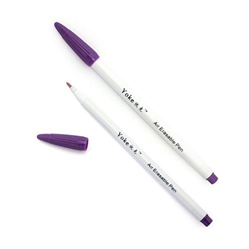 Luft/Wasser löschbar Lila Stoff Marker Kugelschreiber x2 -