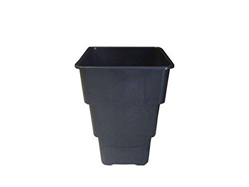 Vierkant-topf mit Untersetzern 7 und 11 L Liter 4-Kant Topf viereckig Blumentopf Anzucht Topf Air Max mit Untersetzern (7 Liter)