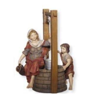 Brunnen con Magd y Niño, para 8cm Figuras