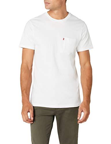 Levi's Herren T-Shirt Ss Set-In Sunset Pocket, Weiß (WhiteSmoke 0010), Large