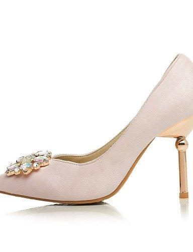 ShangYi Chaussures Femme - Mariage / Habillé / Soirée & Evénement - Noir / Rose - Talon Aiguille - Talons / Bout Pointu - Talons - Similicuir Black
