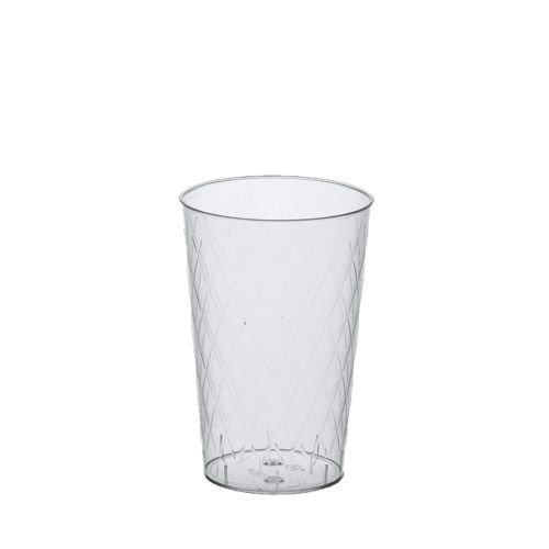 50 Gläser für Apfelwein Plastik, PS 0,25 l Ø 7 cm · 10,5 cm glasklar