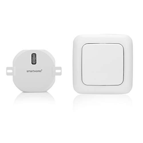 Kit domotique - Interrupteur volet Roulant sans Fil et Récepteur encastrable - Smartwares