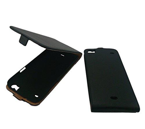 handy-point Flip Case Klapphülle Tasche Hülle Schale Schutzhülle Schutztasche Klapptasche für Wiko Darkside, Schwarz