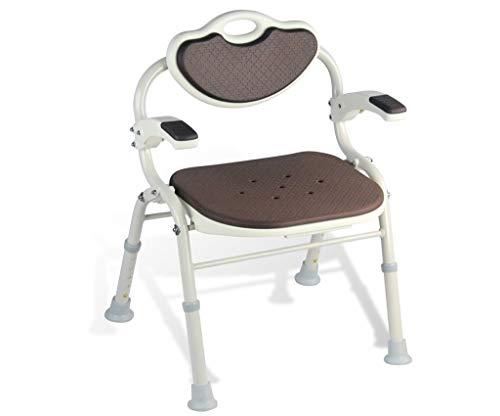 Transfer Duschstuhl Bank Verstellbare Armlehne Badezimmerhocker rutschfest Für Behinderte Unterstützung Im Gesundheitswesen Sitz (Color : Brown) -