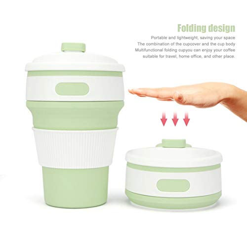 Footprintse Portable zusammenklappbar Stilvolle Farbe Silikon Faltbare versenkbare Becher Kaffee...