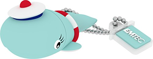 Emtec pendrive 8gb, whale, multicolore