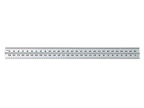 Starrett B300–36Kombinationswinkel Klinge mit Zoll und Millimeter Graduierung, Sets schräg und Winkelmesser, 25mm Breite, 2,4mm Stärke, 300mm Größe