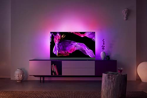 Philips 55OLED903/12 139cm (55 Zoll) OLED TV (Ambilight, 4K Ultra HD, Triple Tuner, Android Smart TV) Silber