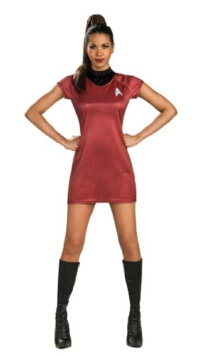 Star Trek Uhura Kleid Damen Damenkostüm sexy Science Fiction Weltall Gr. S - L, Größe:S (Star Trek Uhura Kostüme)