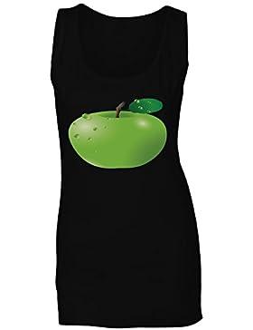 Novedad divertida de la fruta de la manzana camiseta sin mangas mujer f572ft