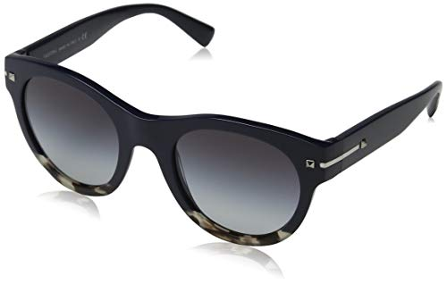 Valentino Damen 0VA4020 50078G 51 Sonnenbrille, Blau (Blue/Ice Havana/Grey)