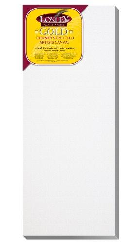 Loxley Gold - Tela rettangolare per uso artistico, di qualità, bordo: 37 mm, 50 x 20 cm