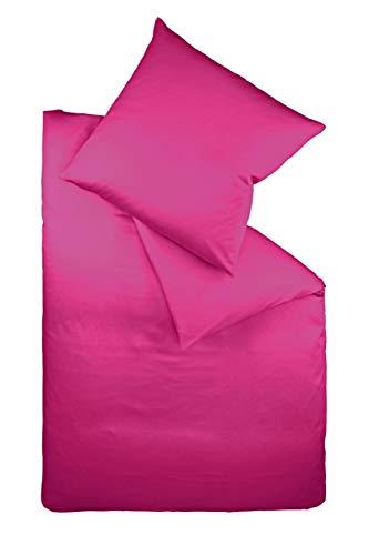 Fleuresse Colours Bettwäsche, Uni-Mako-Satin, pink, 135 x 200 cm