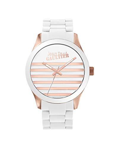 Jean-Paul Gaultier - Reloj Unisex de Silicona, Color Blanco