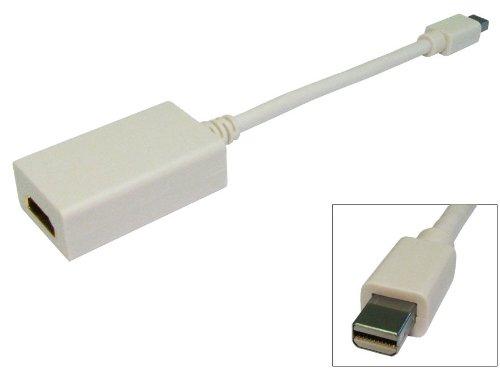 Mini Display Port (männlich) auf HDMI (weiblich) Kabel für Apple Mac ~ Grafikkarte ~ Signalwandler ~ weißer Farbe ~ ~ 20cm/0.2m-Video-Ausgang führen ~ Display-Port-Adapter