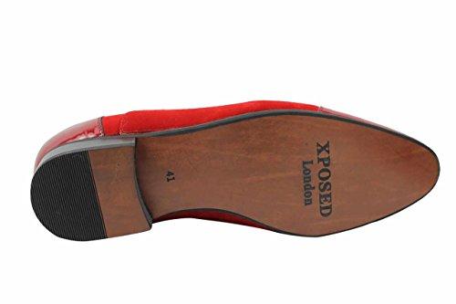 Xposed - Scarpe Basse Stringate uomo Red