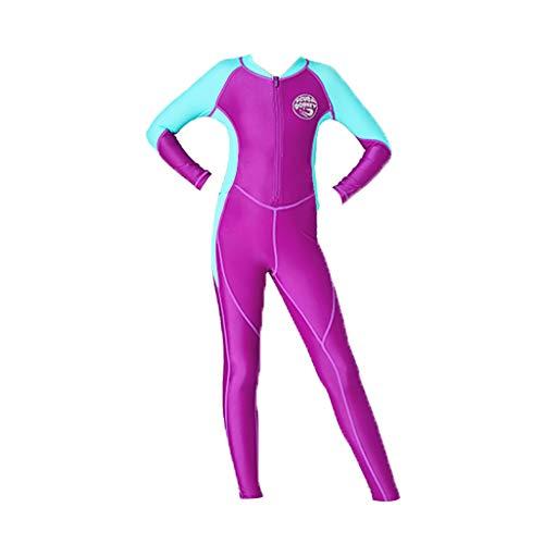 Mädchen Kinder Neoprenanzug Pure Long Dasongff Neopren Schwimmanzug UV Schutz Langarm Wärmehaltung Tauchanzug Badeanzüge Wetsuit für Wassersport