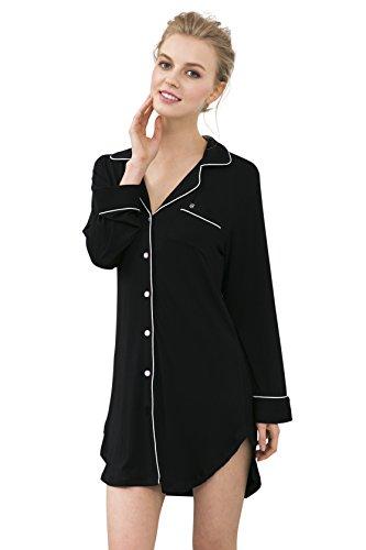 Suntasty - Chemise de nuit Femme Noir