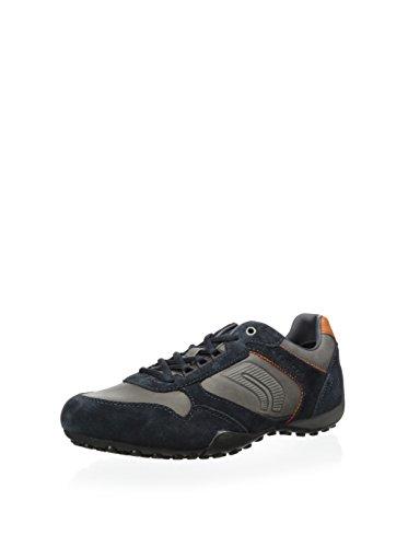 Geox Uomo Snake, Herren Sneaker Blau - Gris/Navy