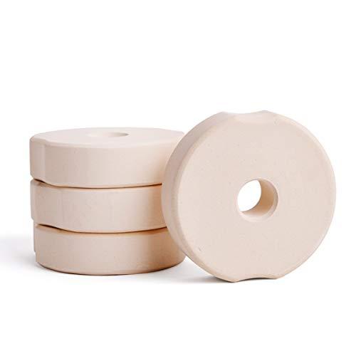 SOFTCOREFOOD Beschwerungsstein 8 cm/ - 4 STÜCK - für Bügelglas/Sauerkraut herstellen/Kimchi und Gemüse Fermentieren im 4er Pack (Beige, Keramik) (Keramik-gewichte)