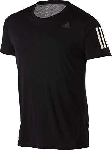 adidas Herren OWN The Run Tee T-Shirt, Black/White, L