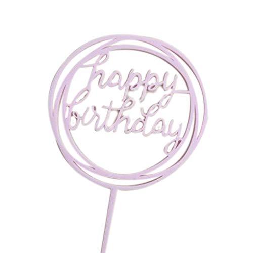 Provide The Best Runde Alles Gute zum Geburtstag Brief-Kuchen-Deckel Acryl DIY Kuchen-Kuchen-Smash-Kerze-Partei-Handmade-Stick