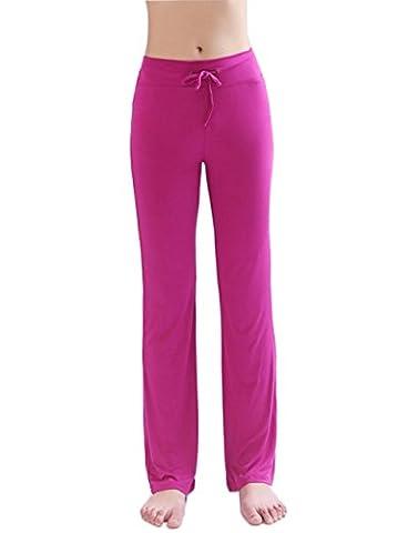 HOEREV Frauen Soft Modal Slimming Hose Yoga Hosen Pyjama-Hose
