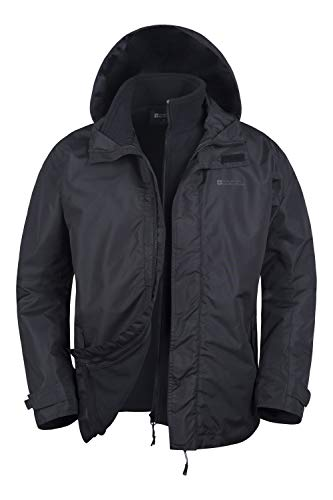 Mountain Warehouse Chaqueta Fell Impermeable 3 en 1 para Hombre - Chubasquero...
