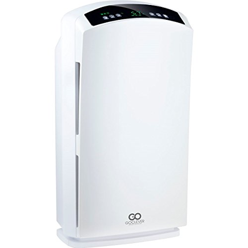 GoClever Cristal Air Pro Luftreiniger 60W bis 60m² mit 3-fach Filter HEPA Activekohle (Große Plasma-displays)