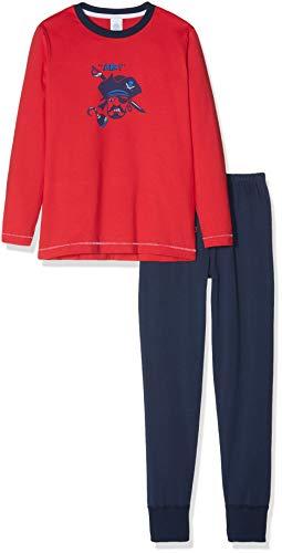 eiliger Schlafanzug Pyjama Long Rot (Rouge 3480) 128 ()