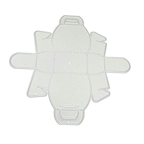 Lazzboy Fustelle Natale Scrapbooking Metallo Stencil Paper Card Craft per Sizzix Big Shot/Altre Macchine(B, Borsetta)