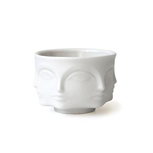 Jonathan Adler - Muse Votiv-Kerzenhalter Teelichthalter kleine Schale mit Gesichtern aus mattem Porzellan vom New Yorker Star Designer - Jonathan Adler Designer
