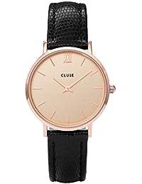 Cluse Femmes Analogique Quartz Montre avec Bracelet en Cuir CL30051