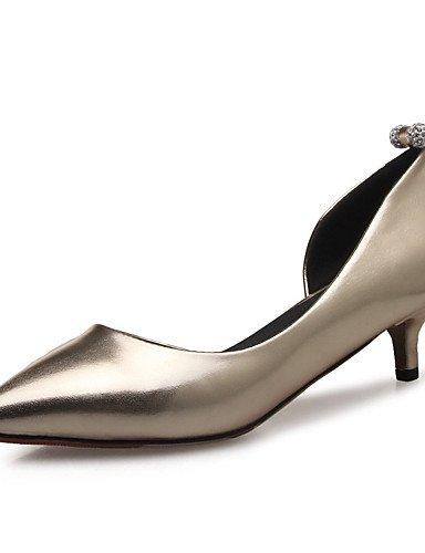 WSS 2016 Chaussures Femme-Mariage / Habillé / Décontracté / Soirée & Evénement-Rose / Argent / Or-Talon Bas-Bout Pointu-Talons-Matières pink-us6.5-7 / eu37 / uk4.5-5 / cn37