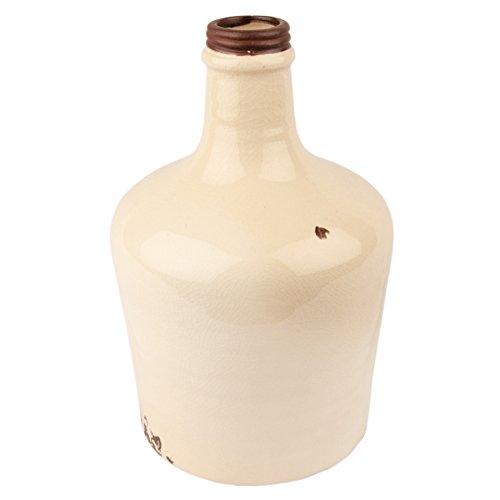 Botella Decorativa Kyla Jarrón rústico Pastel craquele cerámica tar