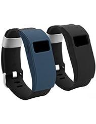 BeneStellar Funda para Fitbit Charge/Fitbit HR Charge Pulsera, Delgada Funda para Pulsera, 2 Unidades (color 3)